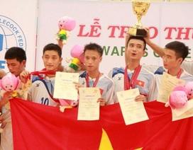 Việt Nam nhất toàn đoàn ở giải vô địch đá cầu thế giới 2013