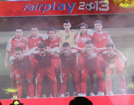 U19 Việt Nam nhận giải fair-play năm 2013