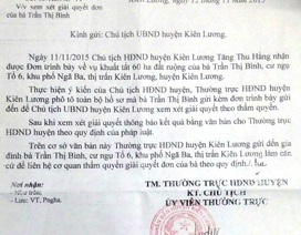 """Chủ tịch HĐND huyện Kiên Lương yêu cầu giải quyết vụ 60 ha đất bỗng """"lọt"""" vào quỹ đất xã"""