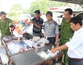 Tịch thu 300kg huyết lợn chứa hàn the chuẩn bị vào chợ