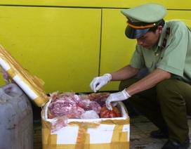 Bắt giữ xe khách chở trên 700kg nội tạng động vật bốc mùi hôi thối