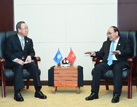 Thủ tướng đề nghị Tổng thư ký Liên hợp quốc hỗ trợ ứng phó biến đổi khí hậu