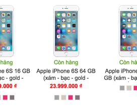 iPhone 6S đang dần mất sức hút tại Việt Nam, giá liên tục giảm