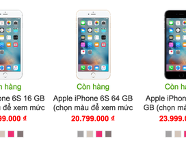 Giá iPhone 6S xách tay chạm đáy, lượng mua tăng lên