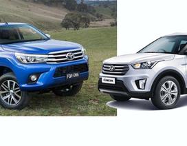 Một số ô tô mới vừa bán ra trên thị trường Việt