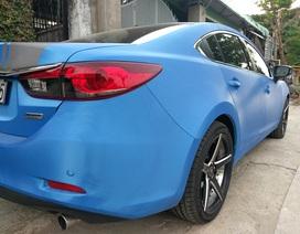 """Ngắm chiếc Mazda6 """"độ"""" màu xanh dương lạ mắt ở TPHCM"""