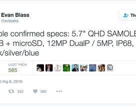 Lộ thông tin cấu hình chính thức của Galaxy Note7