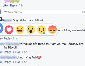 Facebook tích hợp tính năng bày tỏ cảm xúc trong bình luận