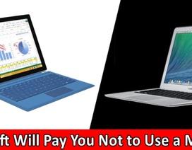 Microsoft dùng tiền để lôi kéo người dùng chuyển từ MacBook sang Surface