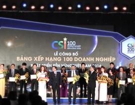 Suntory Pepsico Việt Nam nhận giải thưởng doanh nghiệp bền vững 2016
