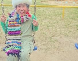 Cụ bà 93 tuổi vẫn xì-tin diện trang phục của cháu gái