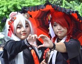 """Ngắm bạn trẻ """"hóa"""" nhân vật truyện tranh trong lễ hội Việt – Nhật"""