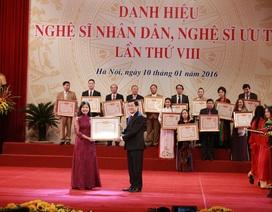 530 hồ sơ nhưng chỉ 479 nghệ sỹ được trao tặng NSND, NSƯT
