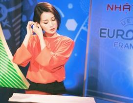 BTV Quỳnh Chi tất bật, thức trắng đêm cùng Euro 2016