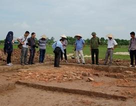 Lần đầu tiên phát hiện dấu vết lầu bát giác thời Trần ở Nam Định
