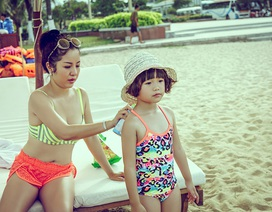 Thuý Nga đưa con gái về nước học tiếng Việt cho đỡ nói ngọng