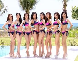 Người đẹp Hoa hậu Bản sắc Việt toàn cầu khoe vẻ nuột nà bên bể bơi
