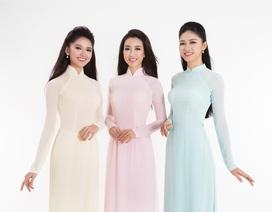 Bộ ảnh áo dài của top 3 Hoa hậu VN 2016 sau khi vừa đăng quang