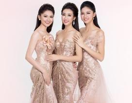 Hình ảnh Top 3 Hoa hậu Việt Nam sau nửa tháng đăng quang