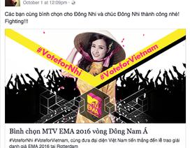 Mỹ Tâm, Hồ Hà kêu gọi bình chọn cho Đông Nhi ở MTV EMA 2016