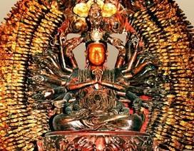 Gian nan phục chế tượng Phật bà vừa bị đánh cắp ở Hưng Yên