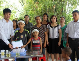 Trao thêm gần 15 triệu đồng đến gia đình cô giáo Hoàng Thị Phi Nga