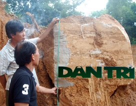 Hà Tĩnh: Phát hiện ngôi mộ cổ hàng trăm năm tuổi vùi lấp dưới đồi đất