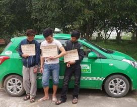 Bắt 3 con nghiện liều lĩnh cướp taxi, chống trả công an