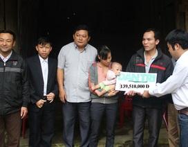 Bạn đọc Báo Dân trí hỗ trợ gần 140 triệu đồng tới bé Phan Đình Tú