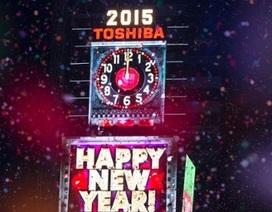 Thắp sáng quả cầu pha lê trên quảng trường Thời đại đón năm 2015