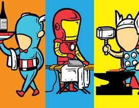 Bộ ảnh hài hước khi các siêu anh hùng vất vả… kiếm sống