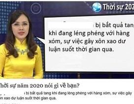 """BTV Hoài Anh nói gì khi bị """"chế"""" ảnh... Thời sự 2020?"""