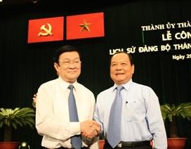 Chủ tịch nước dự lễ công bố sách Lịch sử Đảng bộ TP HCM