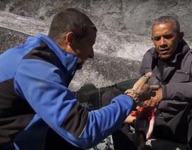 Ông Obama từ chối uống nước tiểu trên truyền hình thực tế