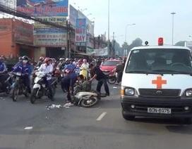 Tai nạn liên hoàn, một người bị xe buýt cán chết