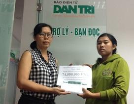 Hơn 74 triệu đồng đến với bé Lộc Ninh