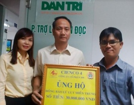Công ty CP 499 ủng hộ 30 triệu đồng giúp đồng bào miền Trung bị lũ lụt