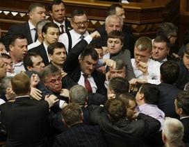 Ukraine: Nghị sĩ đấm nhau túi bụi giữa quốc hội