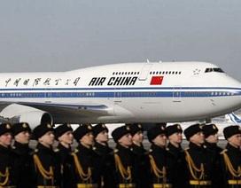 """Tiết lộ """"chuyên cơ"""" của các lãnh đạo Trung Quốc"""