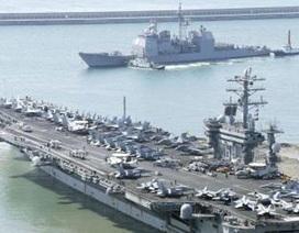 Mỹ-Hàn tập trận cùng tàu sân bay hạt nhân