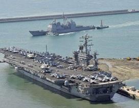 """Triều Tiên """"nổi đóa"""" vì tàu sân bay Mỹ"""