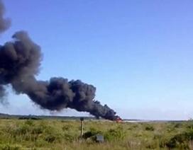 Máy bay không người lái Mỹ đâm xuống đường quốc lộ