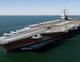 Mỹ hạ thủy tàu sân bay hạt nhân tối tân nhất thế giới