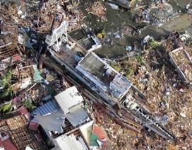 Miền trung Philippines tan hoang sau siêu bão Haiyan nhìn từ trên cao