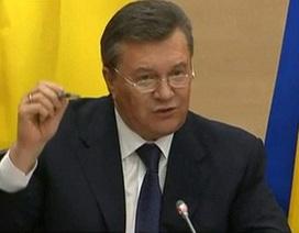 """Yanukovych xuất hiện sau khi bị lật đổ, tuyên bố sẽ """"chiến đấu cho Ukraine"""""""