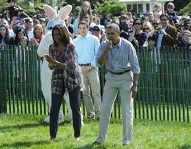 Vợ chồng Obama tổ chức thi lăn trứng tại Nhà Trắng