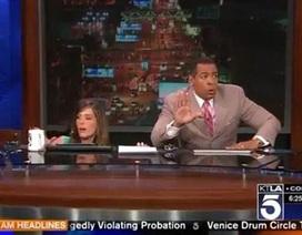 Động đất rung chuyển đài truyền hình đúng giờ lên sóng trực tiếp