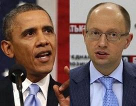 Thủ tướng lâm thời Ukraine đi Mỹ gặp Obama