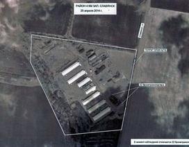 """Ảnh vệ tinh """"tố"""" Ukraine tập trung vũ khí hạng nặng dọc biên giới Nga"""