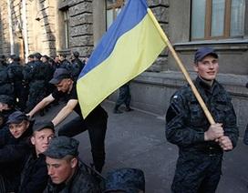 Lực lượng vệ quốc Ukraine biểu tình tại Kiev, đòi giải ngũ về nhà